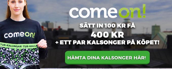 comeon 400% bonus